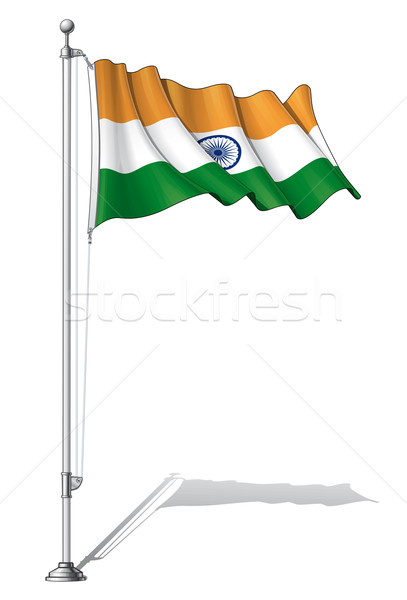 Flag Pole India Stock photo © nazlisart