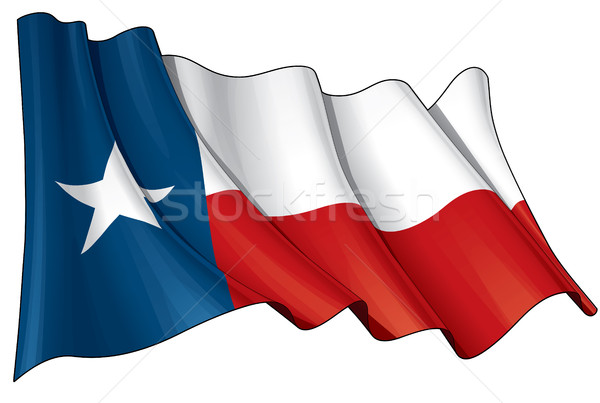 Texas Waving Flag Stock photo © nazlisart