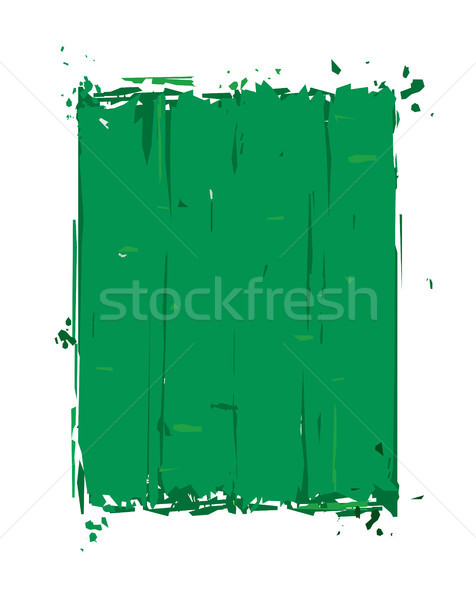 Grunge quadro verde isolado branco fácil Foto stock © nazlisart