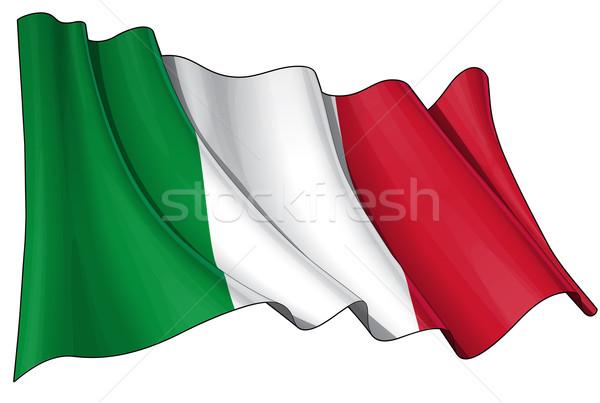 Flag of Italy Stock photo © nazlisart