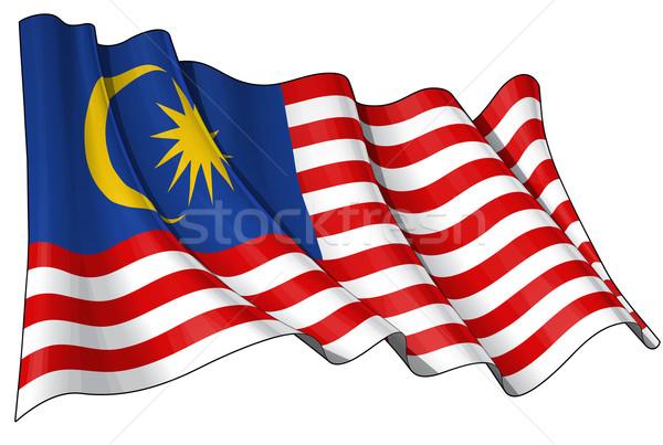 Flag of Malaysia Stock photo © nazlisart