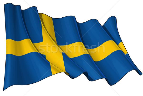 Flag of Sweden Stock photo © nazlisart