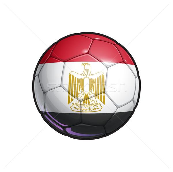египетский флаг футбола футбольным мячом цветами Сток-фото © nazlisart