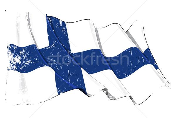Grunge Flag of Finland Stock photo © nazlisart