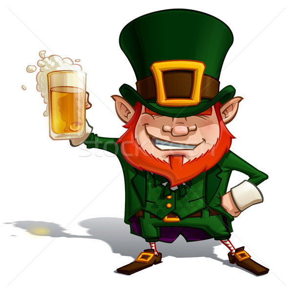 St. Patrick 'Cheers' Stock photo © nazlisart