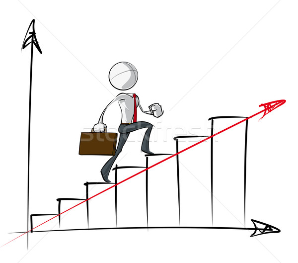 Simple Business People - Steady Growth Chart Stock photo © nazlisart