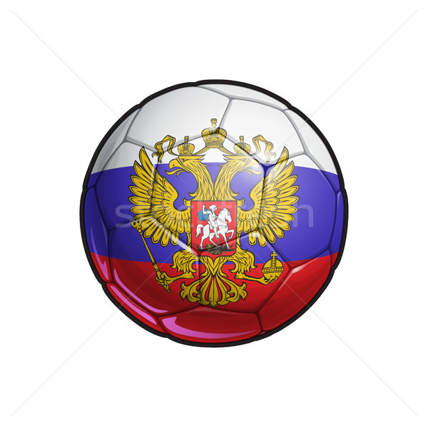 Russian Eagle Flag Football - Soccer Ball Stock photo © nazlisart
