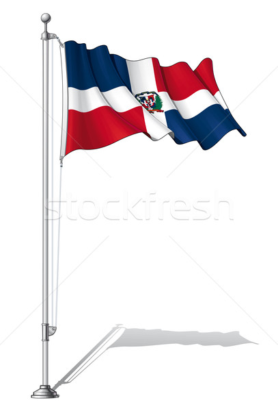 Flag Pole Dominican Republic Stock photo © nazlisart