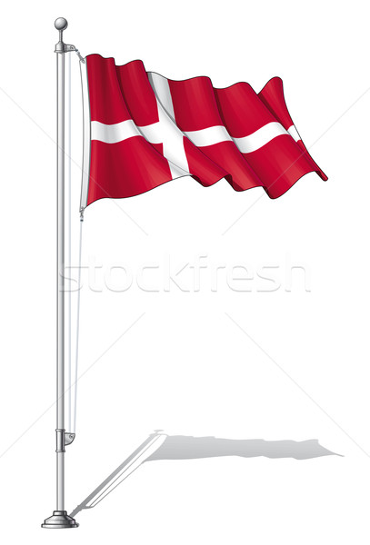 Flag Pole Denmark Stock photo © nazlisart