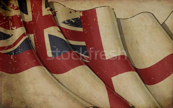 Brits vlag oud papier illustratie roestige afgedrukt Stockfoto © nazlisart