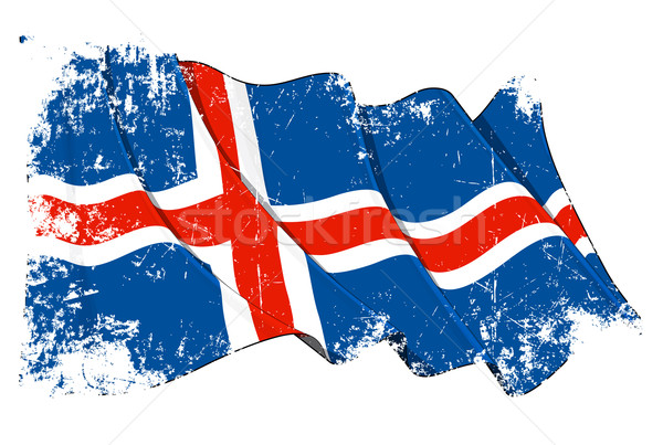 Grunge Flag of Iceland Stock photo © nazlisart