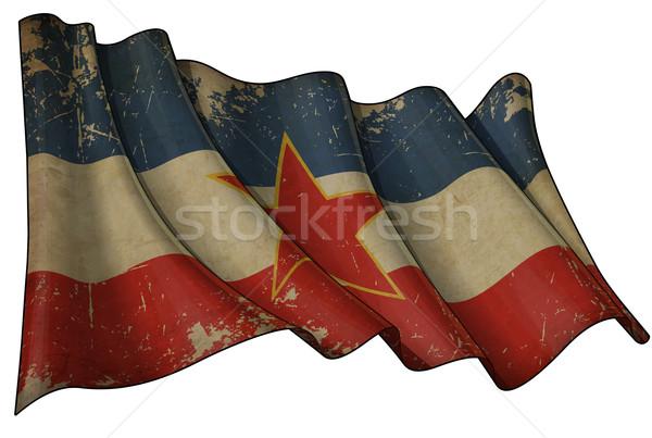 Yugoslavian Historic Flag Stock photo © nazlisart