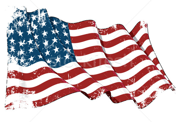 US Flag WWI-WWII (48 stars) Grunge Stock photo © nazlisart