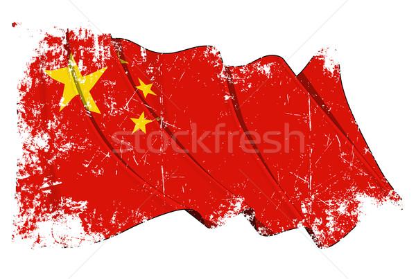 Grange Flag of China Stock photo © nazlisart