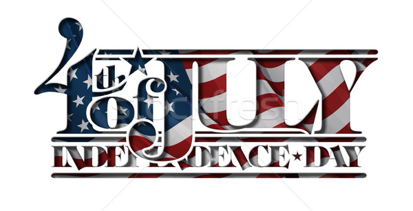 4th of July Cut-Out Independance Day Stock photo © nazlisart