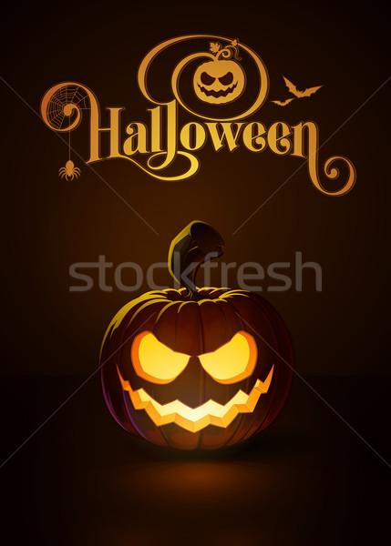 Jack-o-Lantern Dark Scary Smile Stock photo © nazlisart
