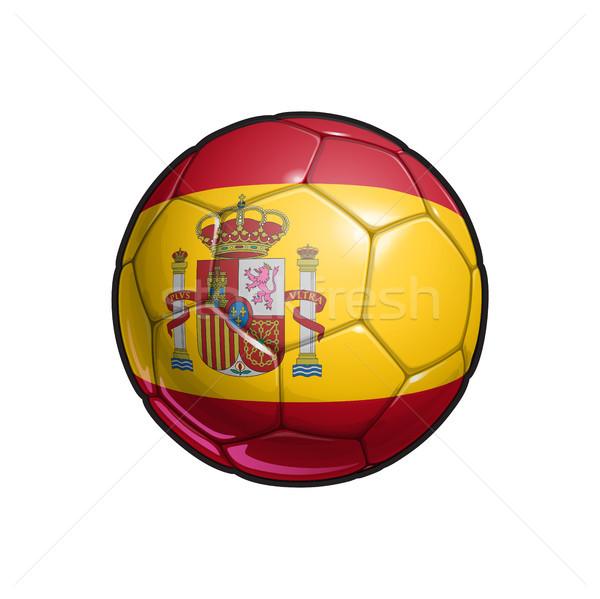 Spanyol zászló futball futballabda színek összes elemek Stock fotó © nazlisart