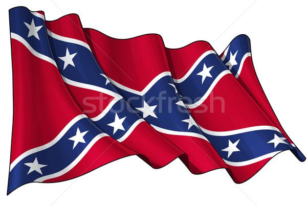 Rebel vlag schone gesneden illustratie Stockfoto © nazlisart
