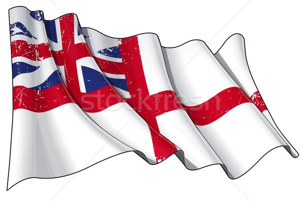 British Navy Flag 1606–1801 (The King's Colours) Scratched Stock photo © nazlisart