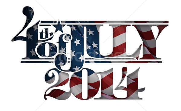 Forth of July 2014 Lettering Cut-Out Stock photo © nazlisart