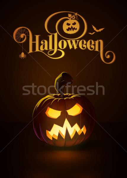 Jack-o-Lantern Dark Angry Scary Stock photo © nazlisart