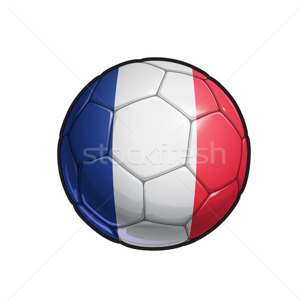 French Flag Football - Soccer Ball Stock photo © nazlisart