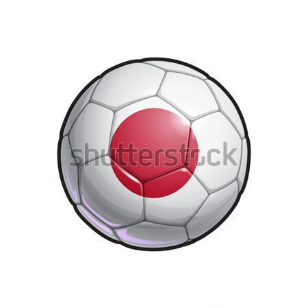 Japanese Flag Football - Soccer Ball Stock photo © nazlisart