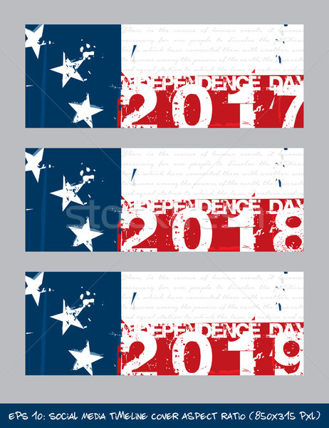 Betsy Ross Flag Independence day timeline cover - Artistic Brush Stock photo © nazlisart