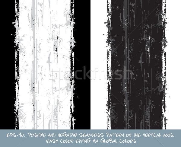 Seamless Pattern - Vertical Brush Stroke Positive and Negative Stock photo © nazlisart