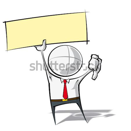 Simple Business People - Victorious Stock photo © nazlisart
