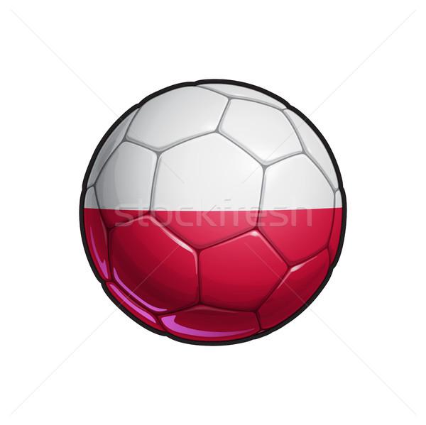 Polish Flag Football - Soccer Ball Stock photo © nazlisart
