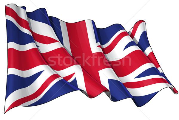 Flag of UK Stock photo © nazlisart