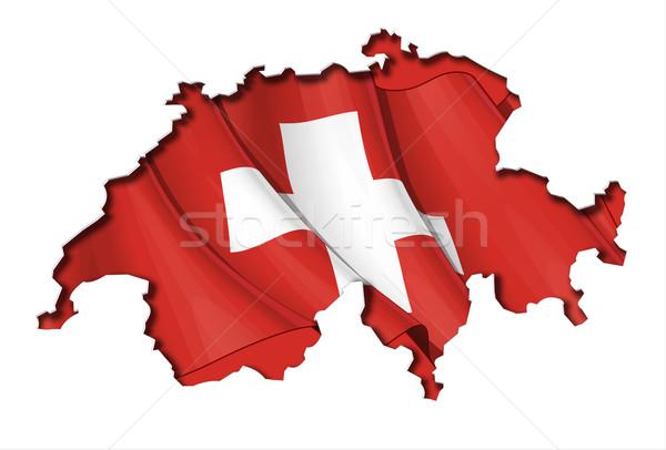 Swiss Map-Flag Stock photo © nazlisart