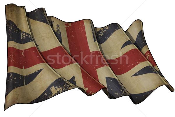 Union jack kleuren historisch vlag illustratie Stockfoto © nazlisart