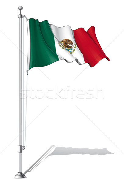 Flag Pole Mexico Stock photo © nazlisart