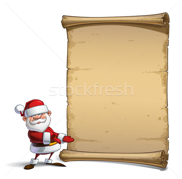 Happy Santa Scroll - Showing Stock photo © nazlisart