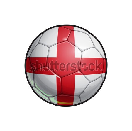 Croatian Flag Football - Soccer Ball Stock photo © nazlisart