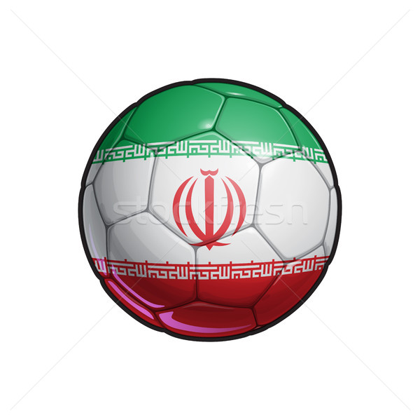 Iranian Flag Football - Soccer Ball Stock photo © nazlisart
