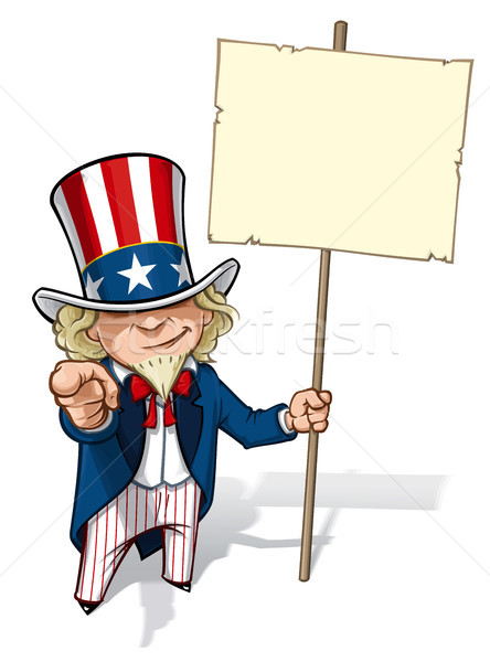 Uncle Sam 'I Want You' Placard Stock photo © nazlisart