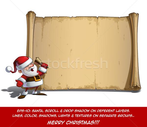 Feliz rolar natal tempo vetor Foto stock © nazlisart