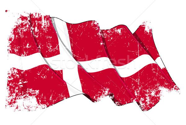 Grunge Flag of Denmark Stock photo © nazlisart