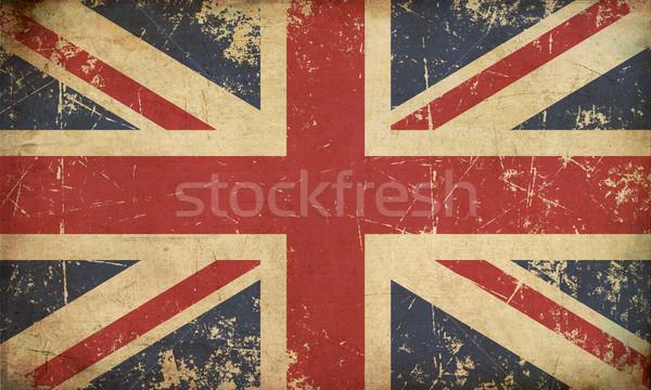 UK Aged Flat Flag Stock photo © nazlisart