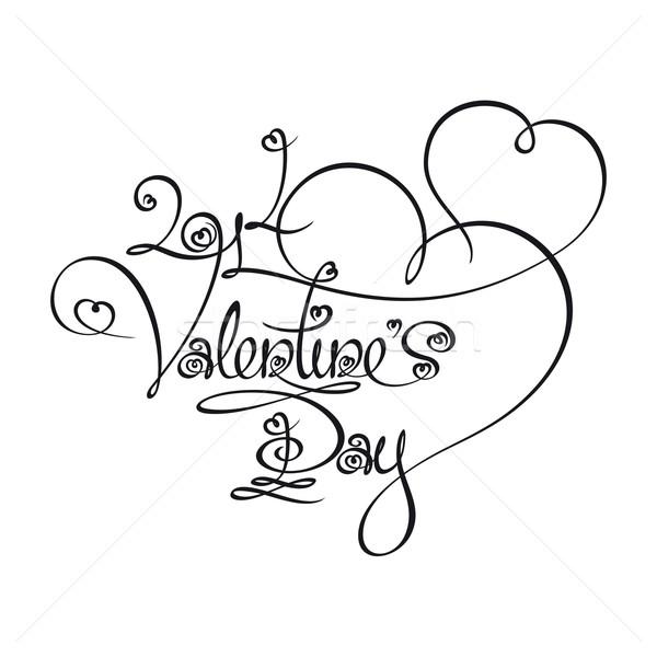 Caligraphic Text - 2014 Valentines Day Stock photo © nazlisart