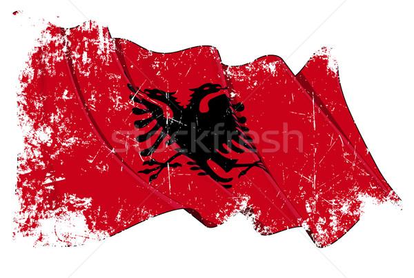 Albanian Flag Grunge Stock photo © nazlisart