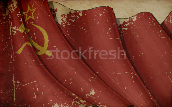 Soviet Union Old Paper Stock photo © nazlisart