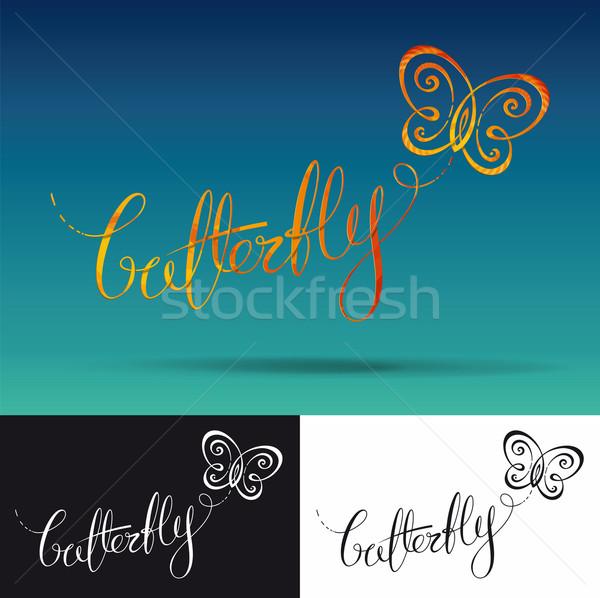 Logo Butterfly Stock photo © nazlisart