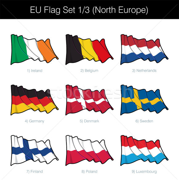 Europese unie vlag ingesteld noorden Stockfoto © nazlisart