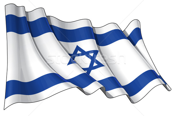 Bandeira Israel limpar cortar ilustração Foto stock © nazlisart