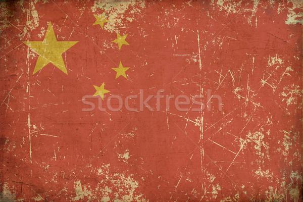 Chinese Aged Flat Flag Stock photo © nazlisart