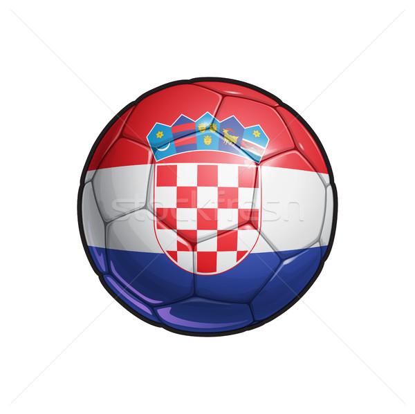 Croatian Flag Football - Soccer Ball Stock photo © nazlisart